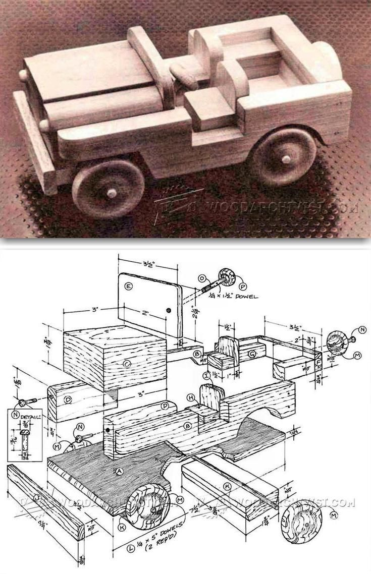 Jeep toys for kids  Wooden Toy Jeep Plans  Wooden Toy Plans and Projects