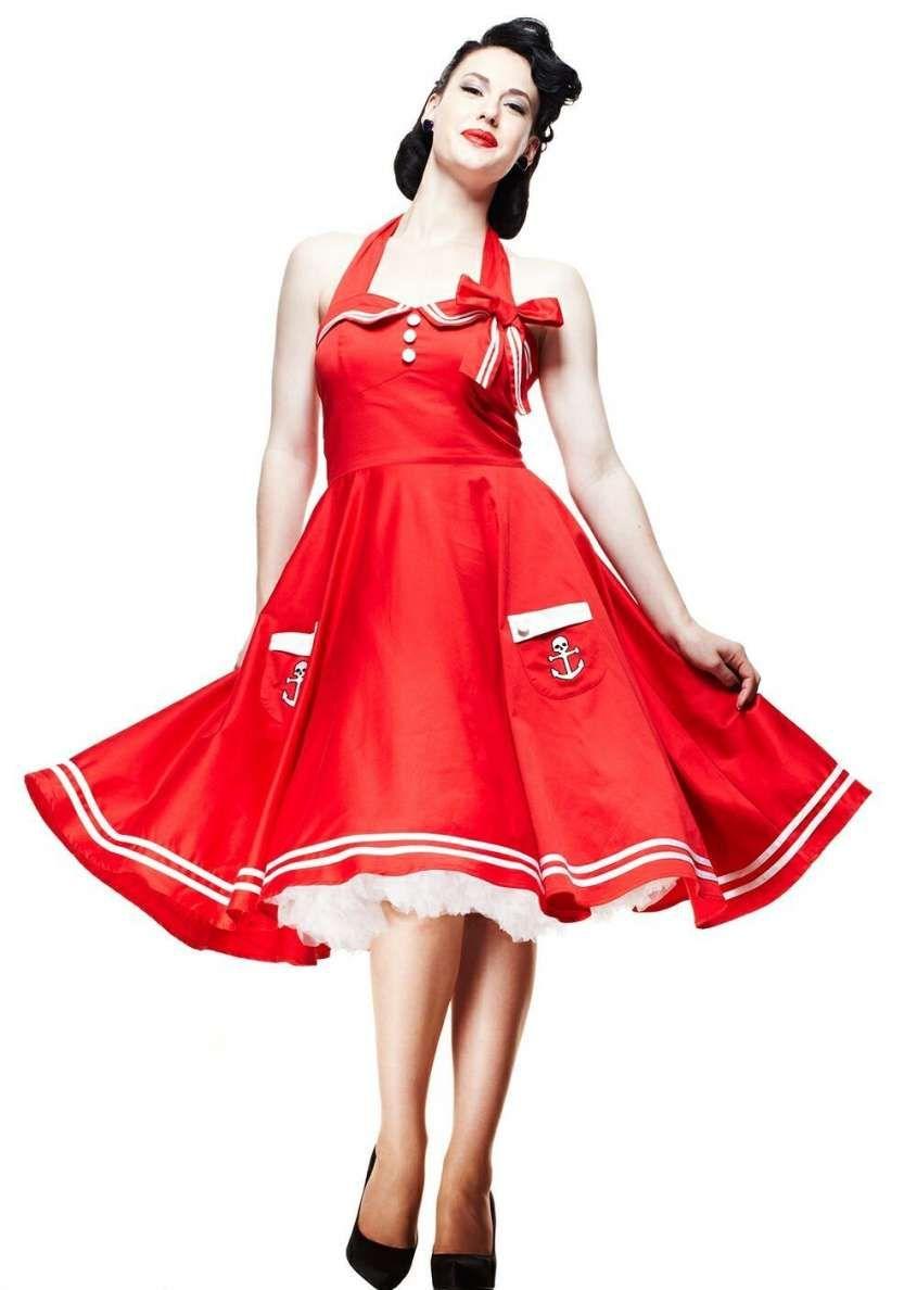 cerimonia Rockabilly stile '50 rosso da in Abiti anni Vestito Tw5UvnSq