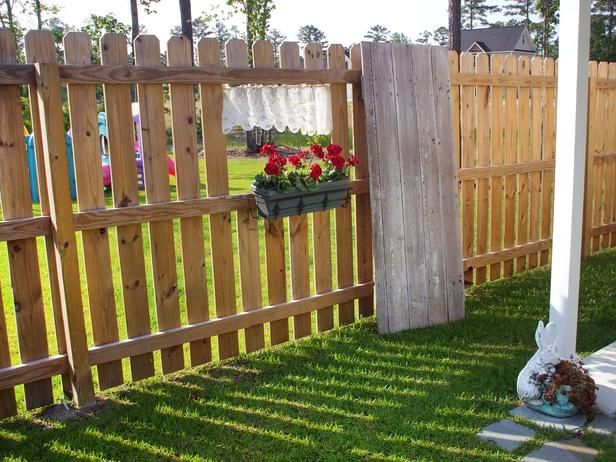 garden wooden fence designs