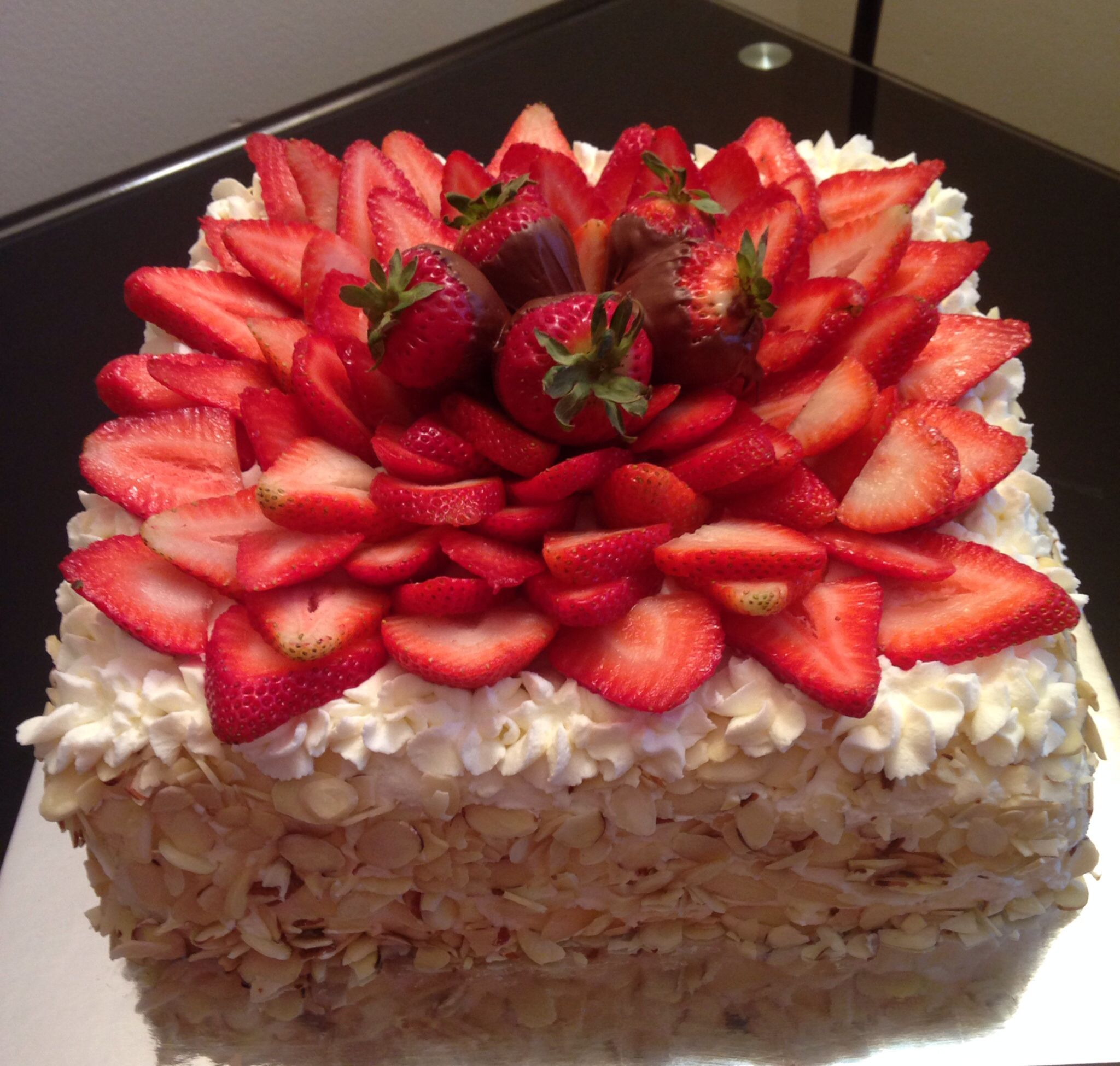 Strawberry With Almonds Tres Leches Cakes With Images