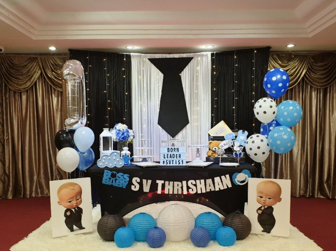 Boss Baby 1st Birthday Party Design Craft Others On Carousell