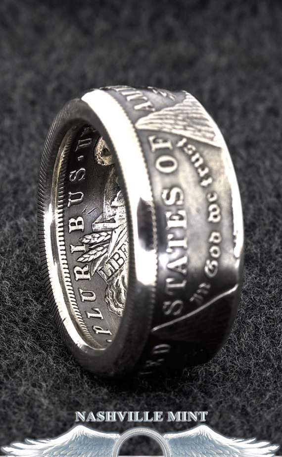 CoinRing 1884 Silver Dollar Coin Ring Sizes 1023