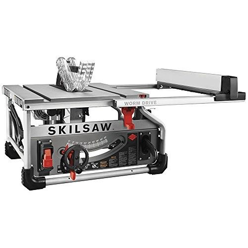 Skilsaw Spt70wt 22 15 Amp Corded Electric 10 In Portable Worm Drive Table Saw Portable Table Saw Best Table Saw Table Saw
