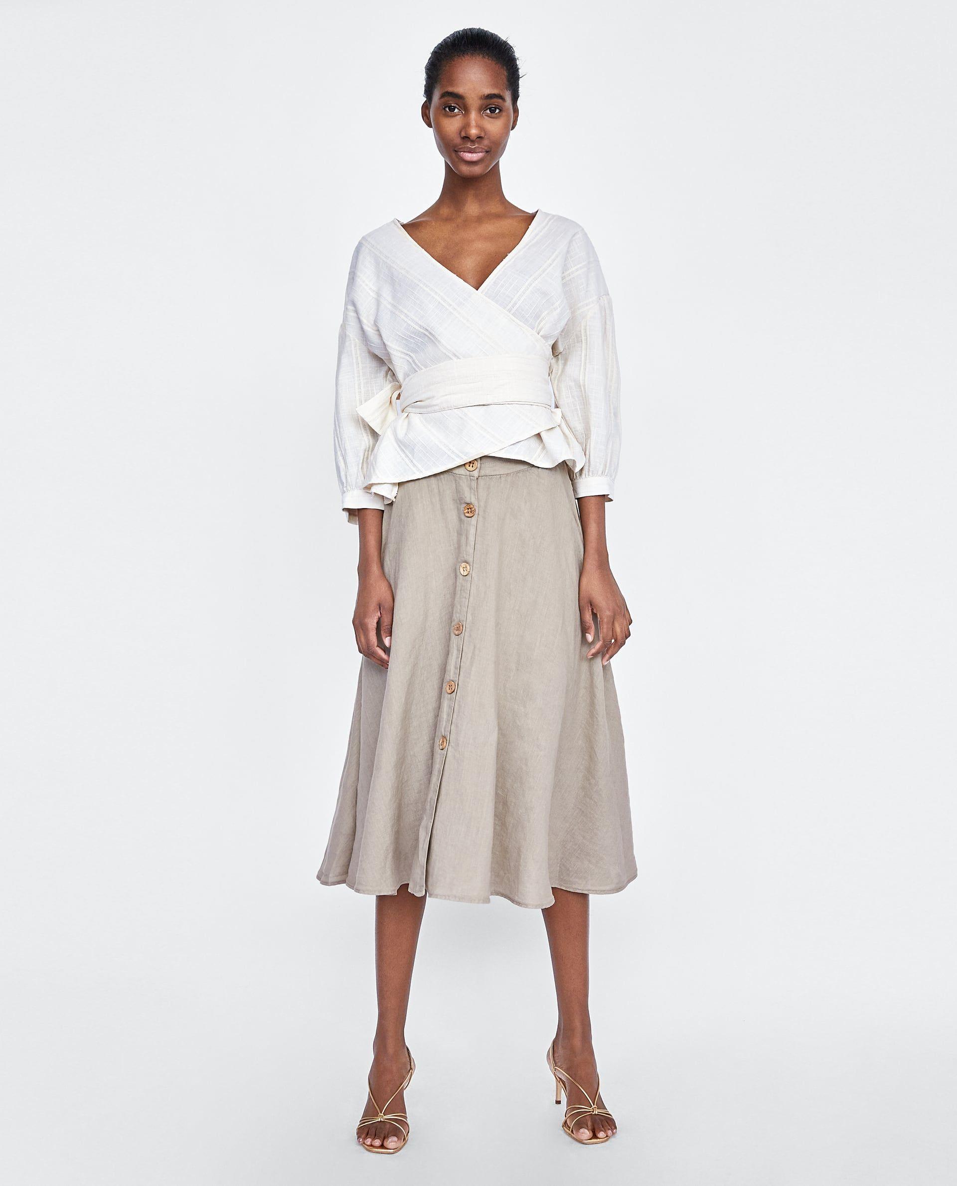 FALDA LINO BOTONES | Falda de lino, Faldas y Ropa de lino