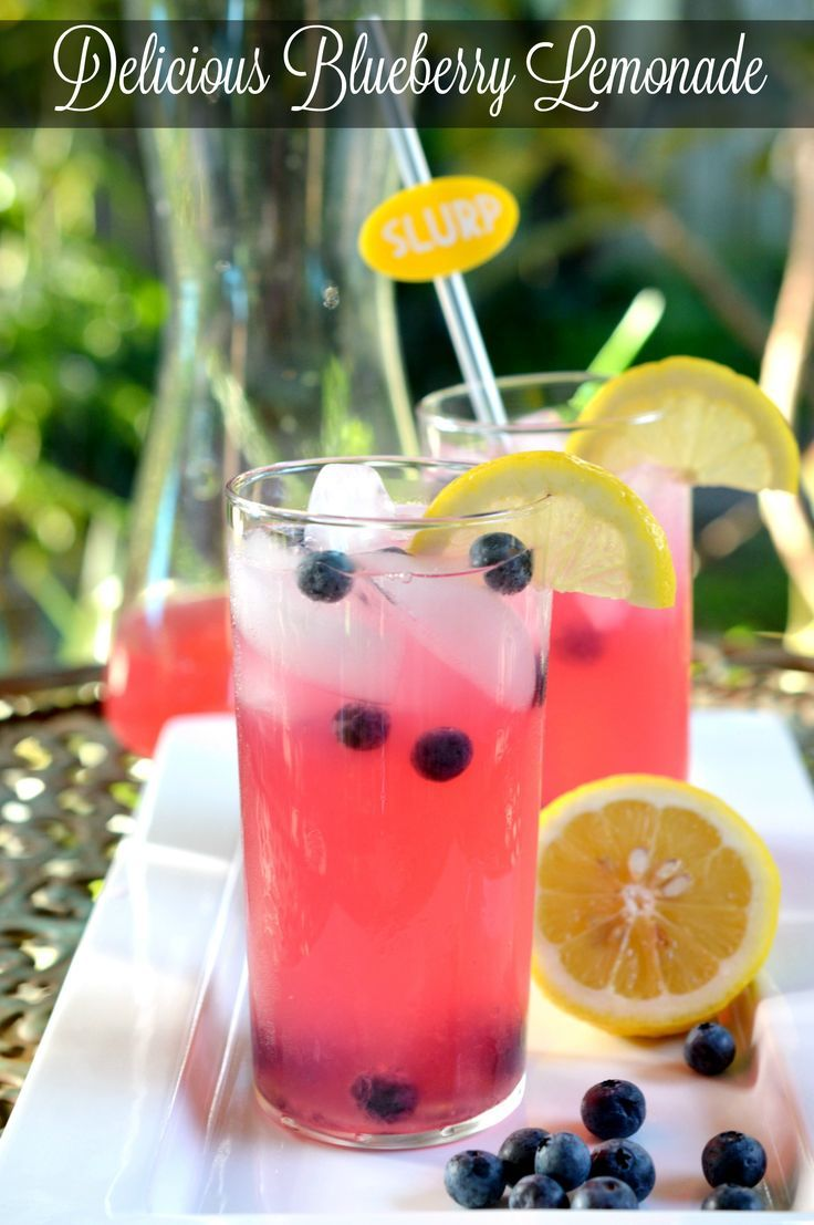 Homemade blueberry lemonade with simple syrup recipe
