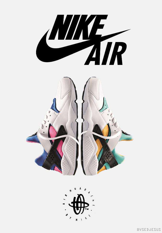 recherche à vendre Nike Huarache Blanc Gris Rouge Design Graphique livraison rapide Livraison gratuite rabais wiki pas cher offre phO74