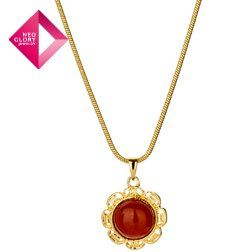 Neoglory Jewelry fashion necklace agate pendant necklaces women jewelry 14k gold plated new arrival from Reliable necklace suppliers on NEOGLORY JEWELRY