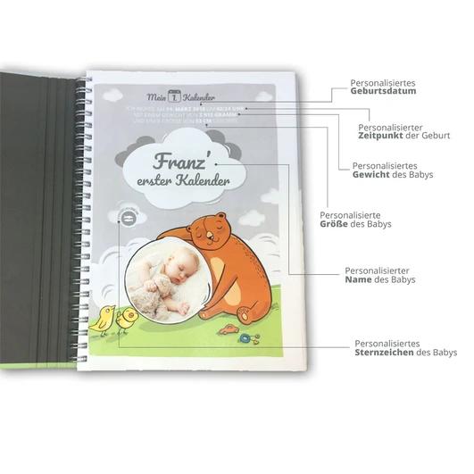 Mein 1 Kalender Baby Tagebuch Personalisiert Geschenk Zur
