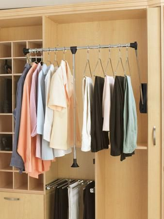 High Ceiling Storage U0026 Closet Design Ideas. Pull Down Rods Available At  Richelieu Hardware.