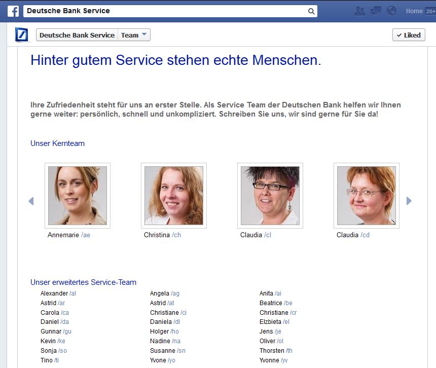 Deutsche Bank Promotes Twitter and Facebook Social