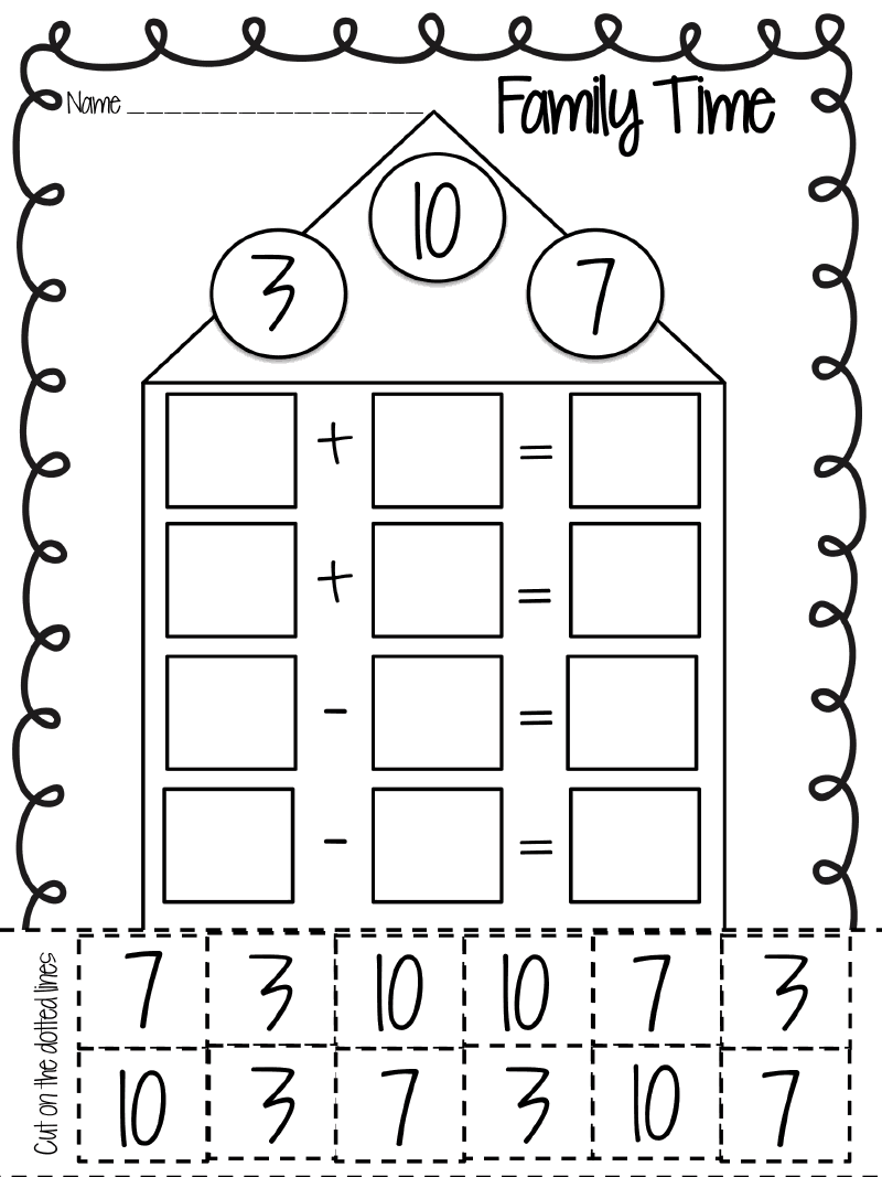 Fact Family.pdf - Google Drive   First grade math [ 1067 x 800 Pixel ]
