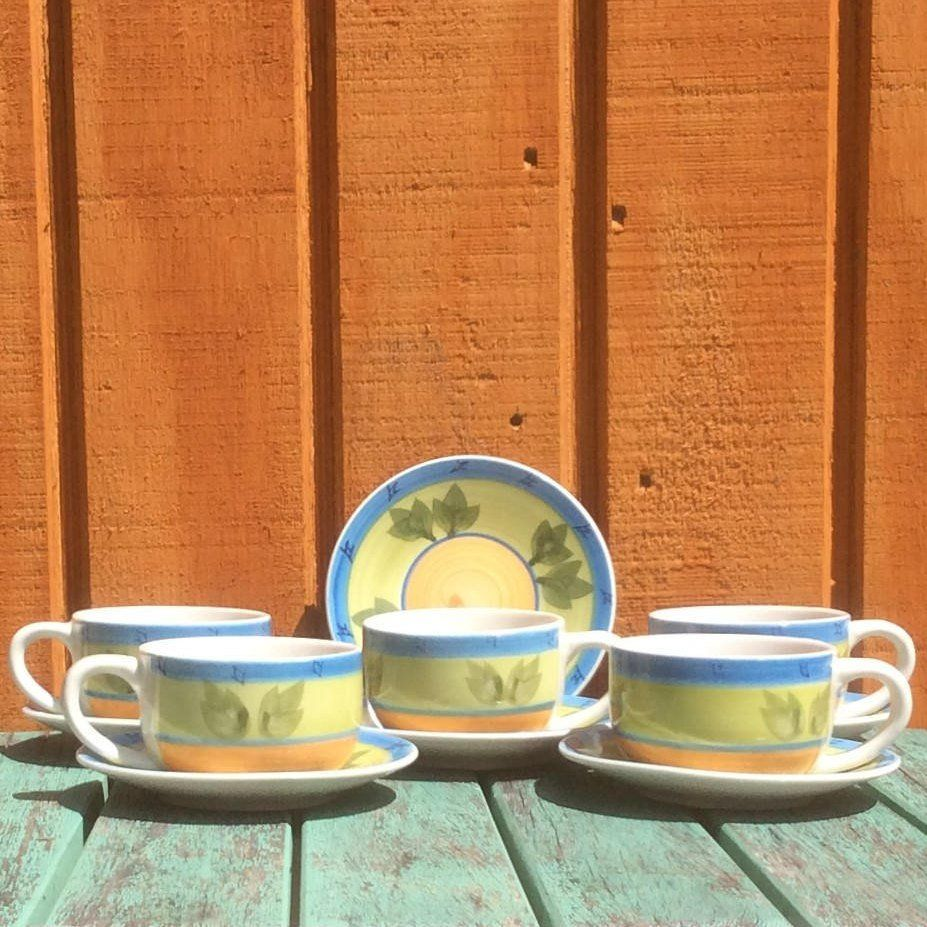 Small Coffee Cups And Saucers 11pc Espresso Coffee Mugs And Saucers Set Coffee Cups And