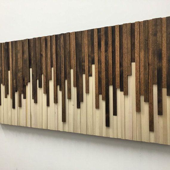 Instalación de pared de pared madera de la pared arte ok - pared de madera