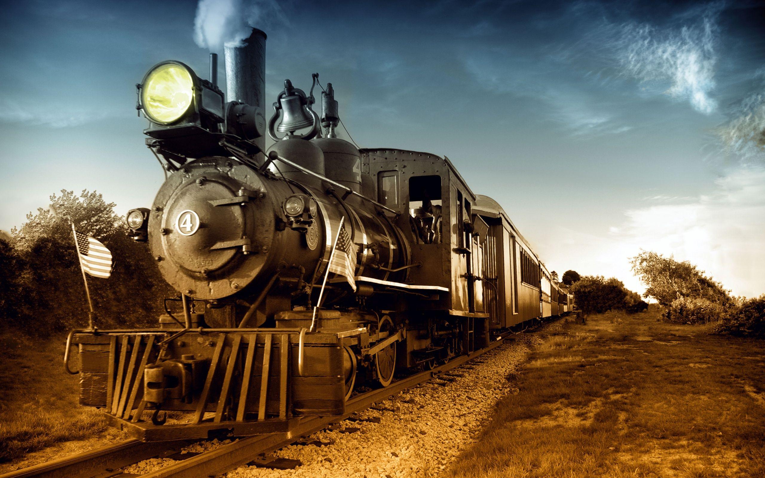 Nostalgic Steam Train Wallpaper 2560x1600 Tren Imagenes
