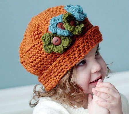 Etsy Crochet Pattern Multi Size Floral Hat Crocheting Pinterest