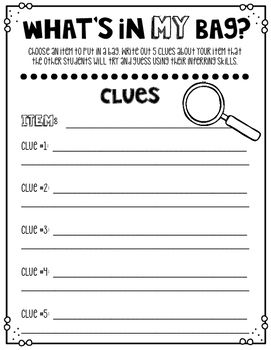 Quirky observation inference worksheet Latest