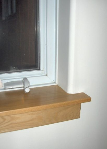 Oak Window Stool And Apron With Drywall Return To Window