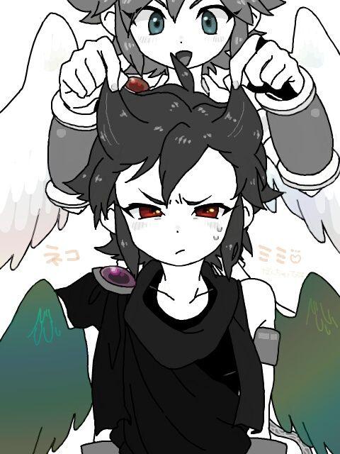 Kid Icarus Pit And Dark Pit Kid Icarus Kid Icarus Kid Icarus