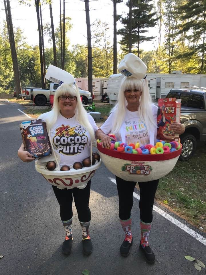 Coco puffs and fruit loops cereal halloween costumes