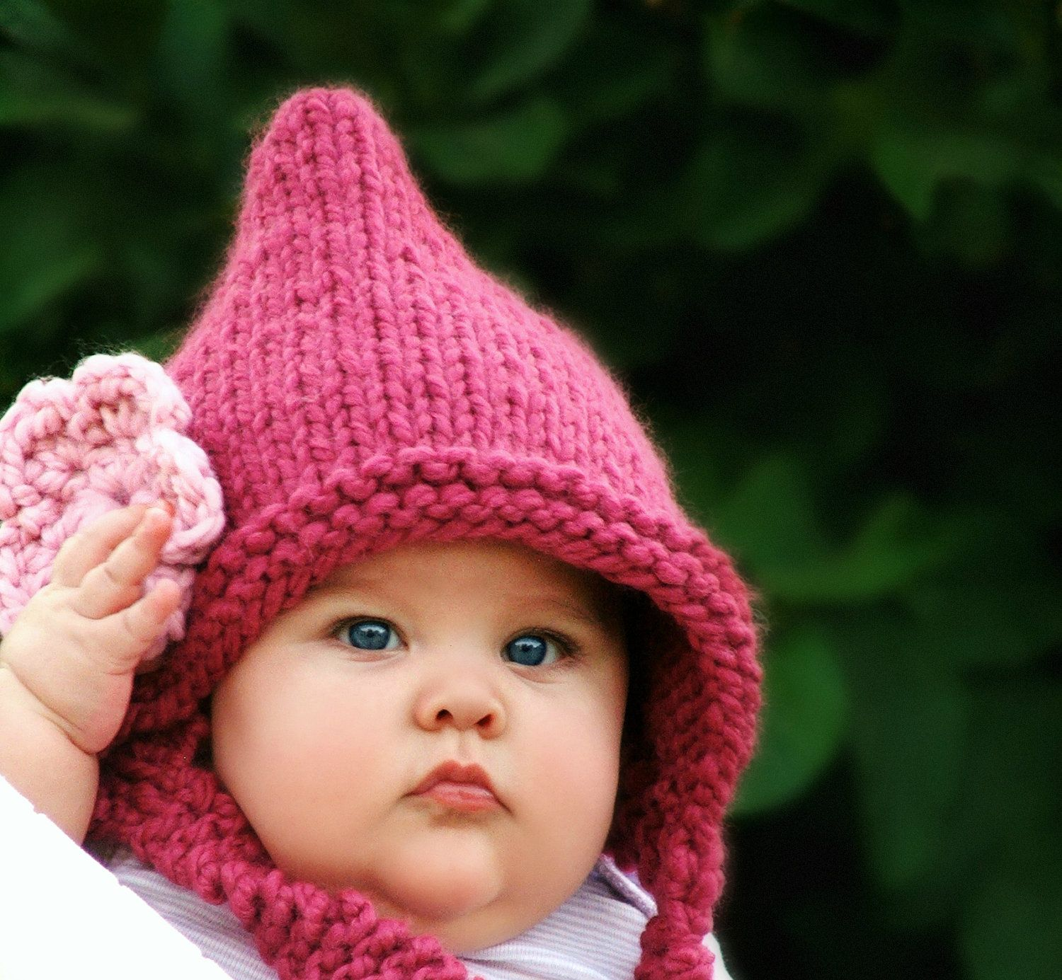 Baby Pixie Hat knitting pattern $5.50 Click here to find: https ...
