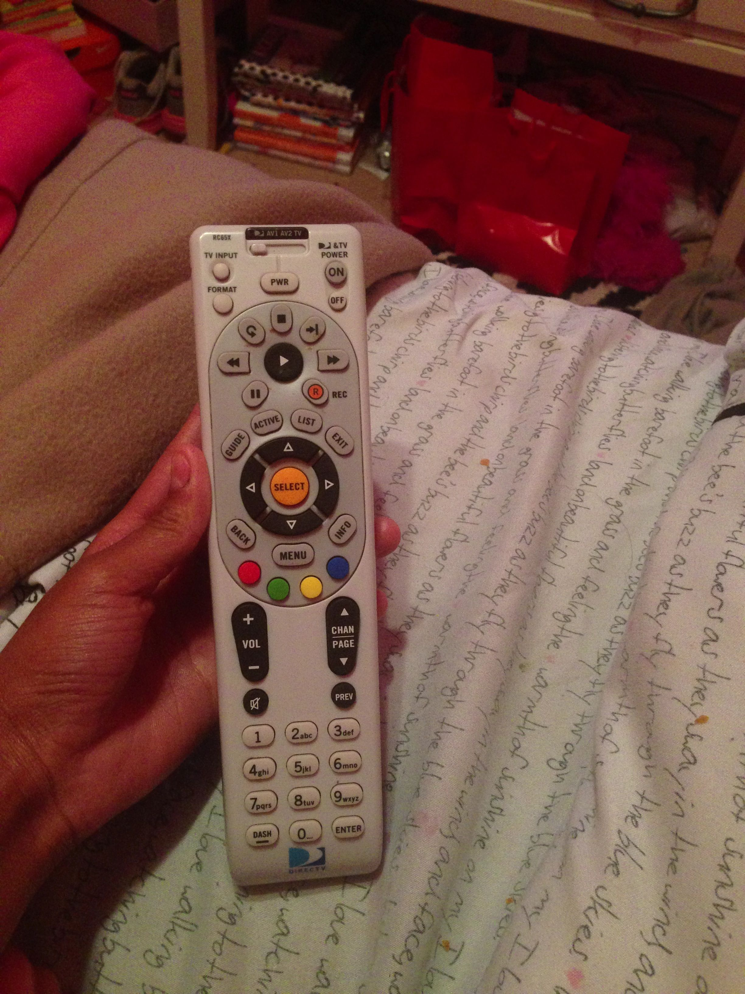 My tv remote