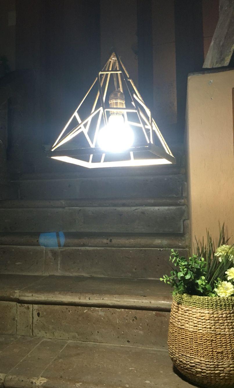 Lámpara De Techo Estructura Lineal Concepto Egipto