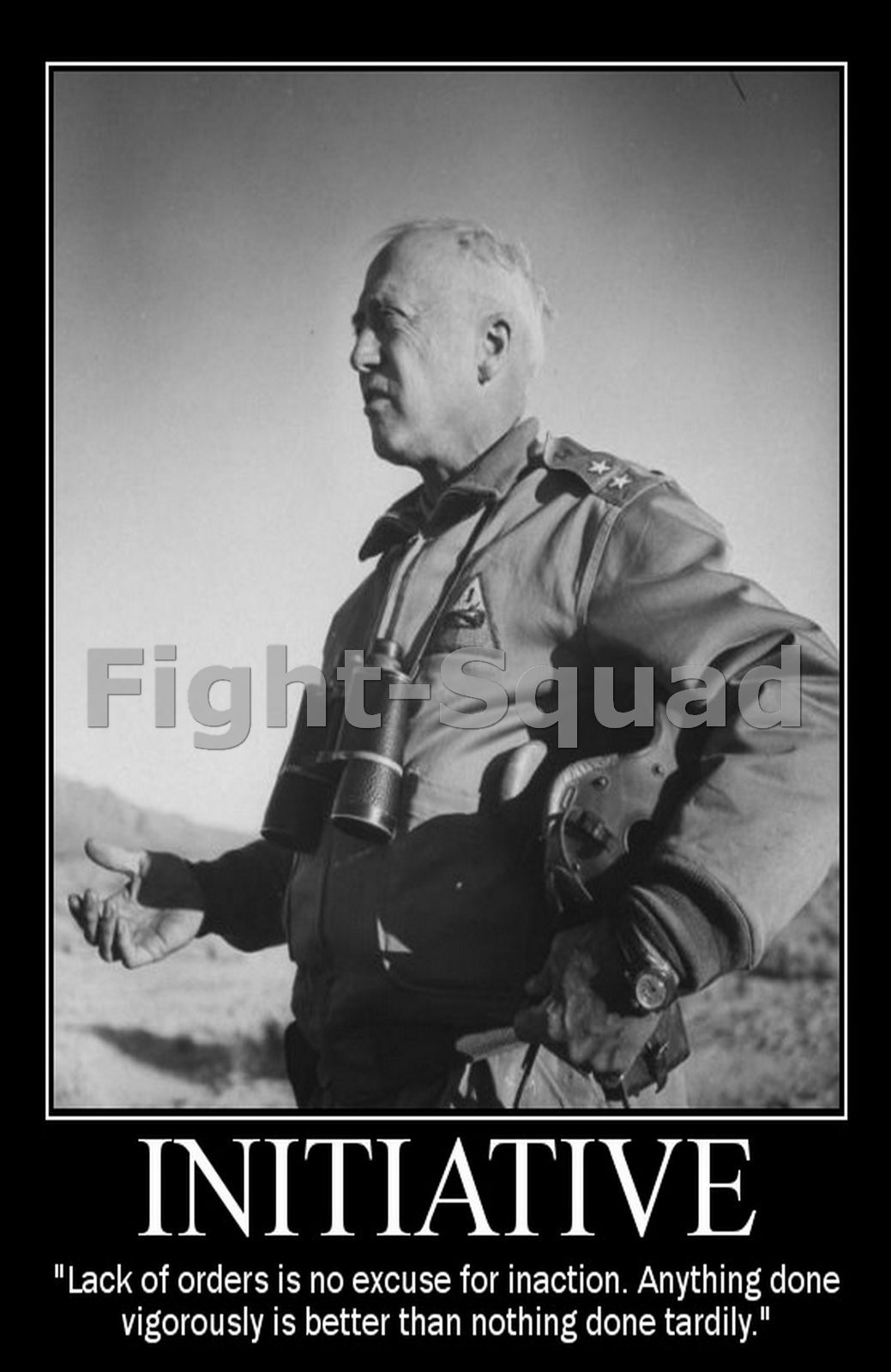 $4.95 - Ww2 Picture Photo General George Patton Quote About Initiative 2166  #ebay #Collectibles