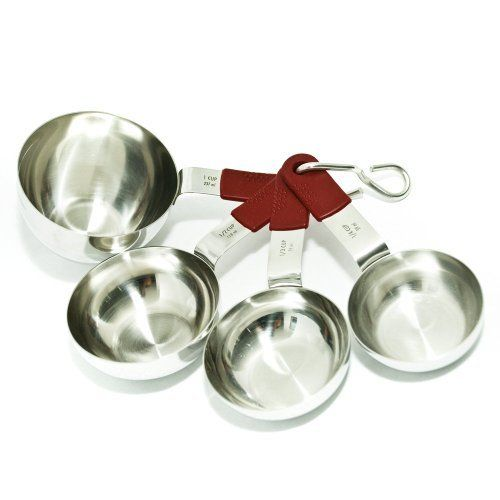 Chef Select Silicone Handle Measuring Cups, Red/Stainless Steel by ARG Manufacturing. $14.52. Simple design for any kitchen. Silicone non-slip grip. Ergonomic Handle. Dishwasher Safe. Limited Lifetime Warranty. ARG removes the middleman allowing customers to purchase products at factory direct pricing. Producing the highest quality tools to suit any kitchen. ARG creates products from silicon, plastics, resin rubber, stainless steels, aluminum and other metal alloys in st...