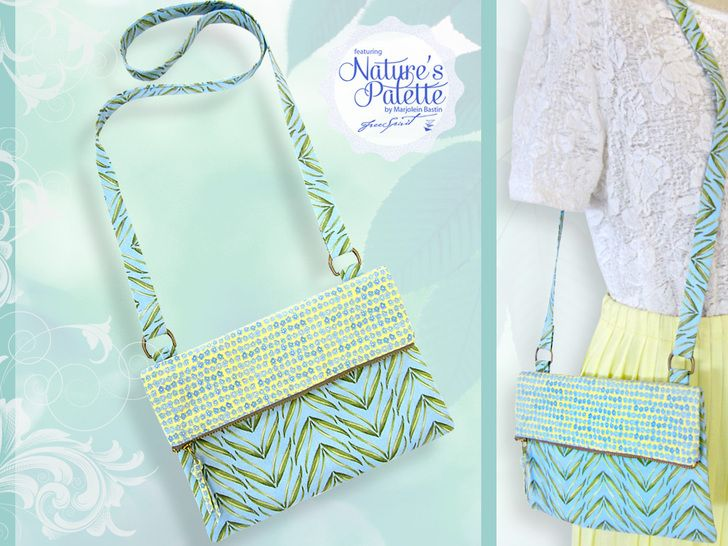 Nature's Palette by Marjolein Bastin for FreeSpirit: Fold-over, Zipper Top Purse | Sew4Home #zippertop