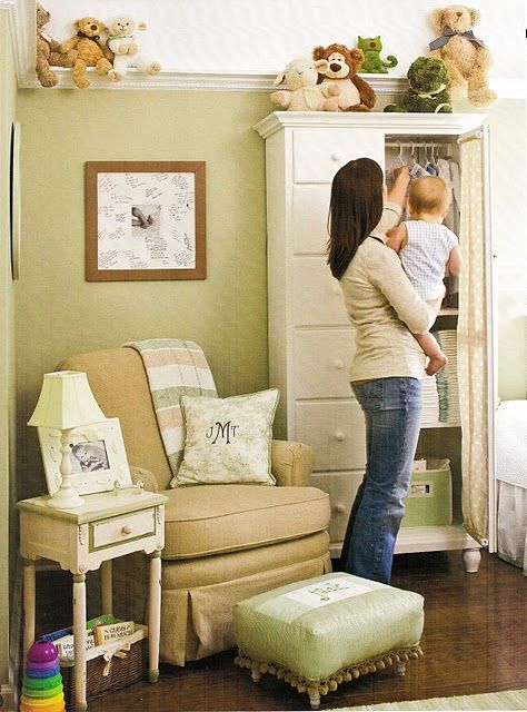 nursery paint nuetral | Wall paint color is Willow Branch by Valspar ...