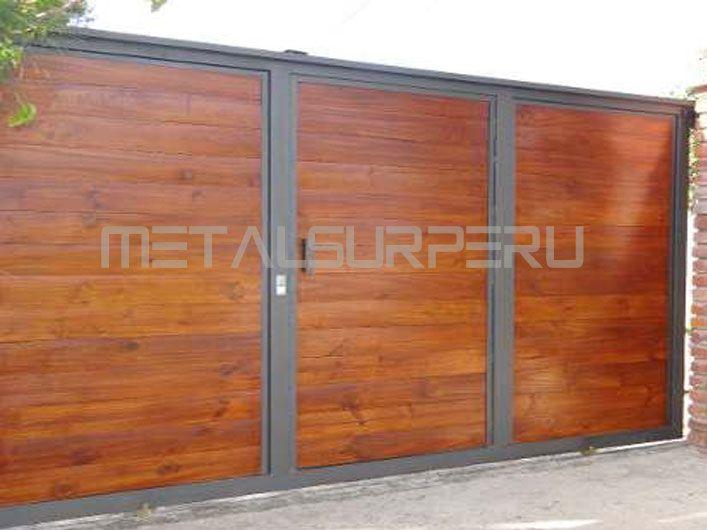 Portones de madera modernos buscar con google portones for Puertas y portones de madera