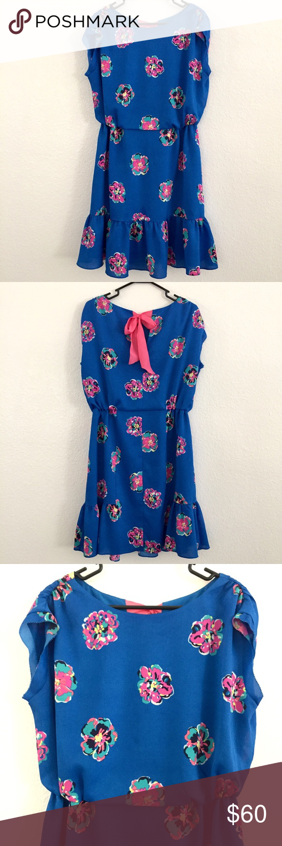 3e637a2b95 Lilly Pulitzer Auburn Floral Dress Size M No holes or stains. In great  condition. Perfect for summer! Lilly Pulitzer Dresses Mini