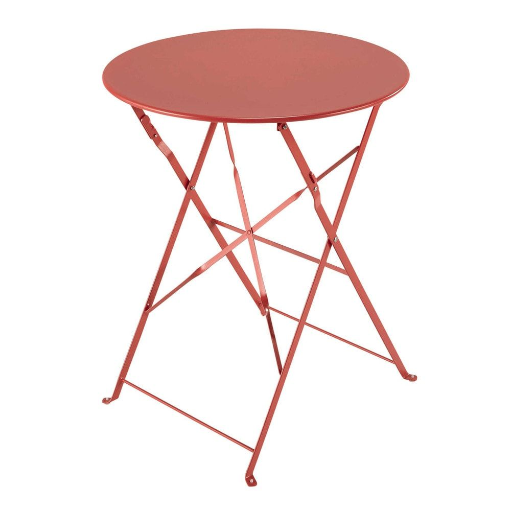 Table de jardin pliante en métal rouge framboise in 2019 | Products ...