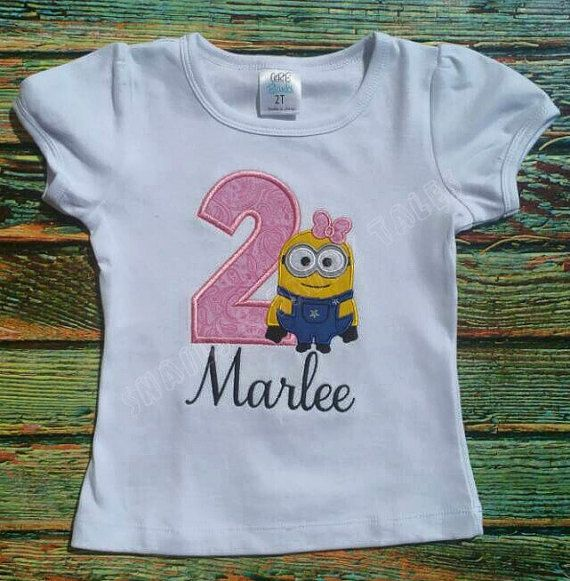 Girl Minion ANY BIRTHDAY Shirt Despicable Me Custom By SFTBoutique 2nd Birthday