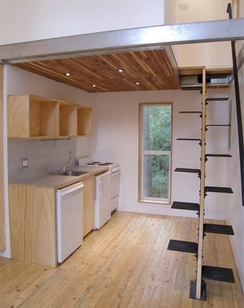 Loft Over Kitchen Loft House Design Small House Design Loft House