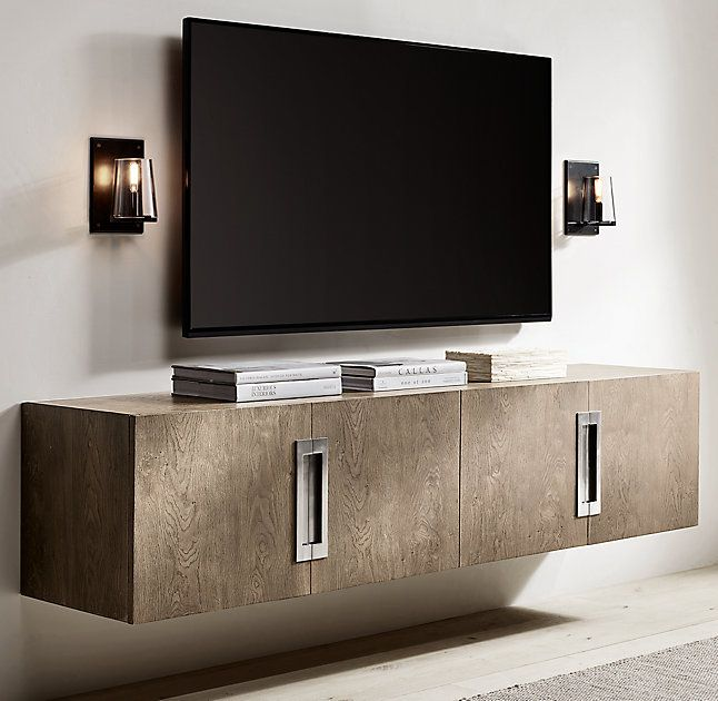 Pauillac Sconce in 2019 | Floating media console, Floating ... on Corner Sconce Shelf Cabinet id=95107