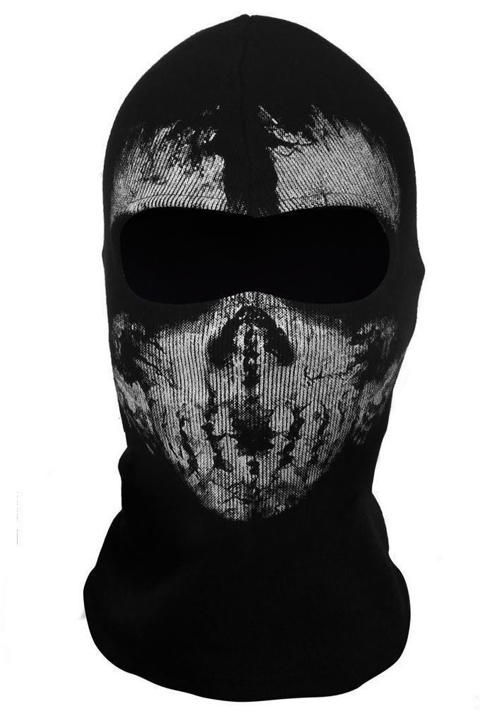 Call of Duty 10balaclava face ghost skull mask hood biker ...