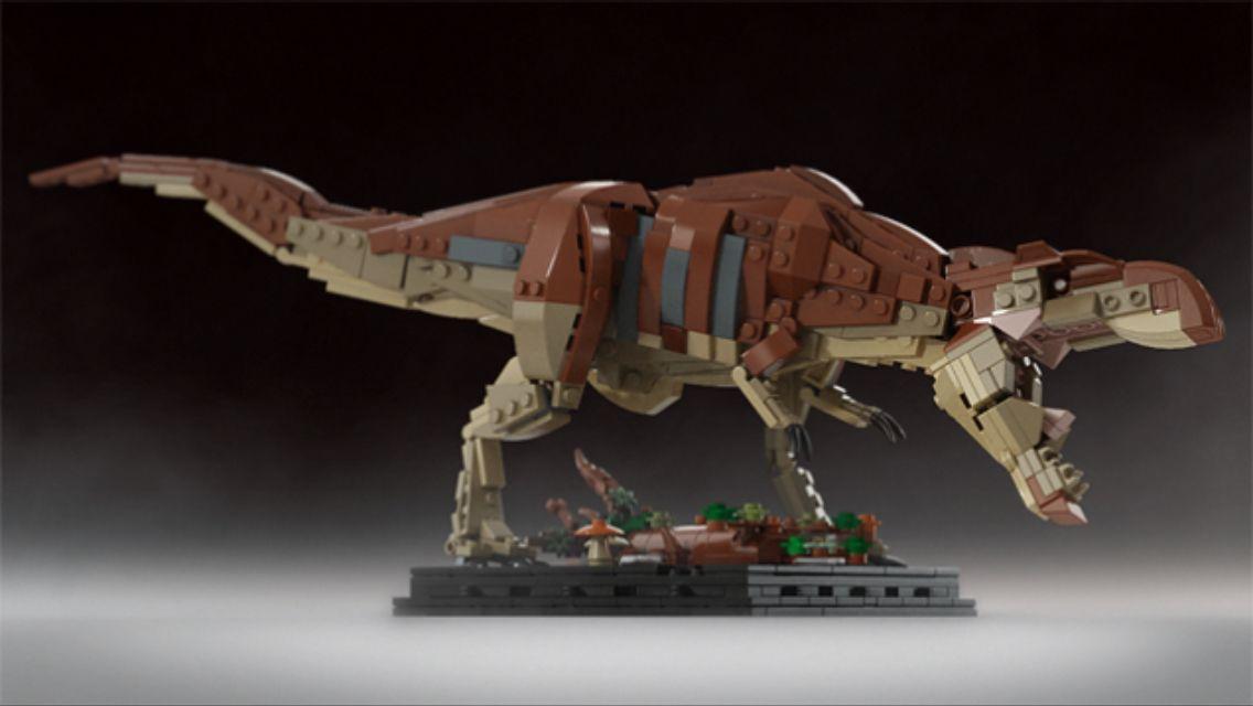 lego jurassic park trex  lego dinosaurier lego design