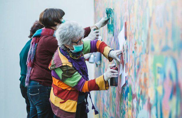 Удивительная команда бабушек и дедушек, рисующих граффити ...
