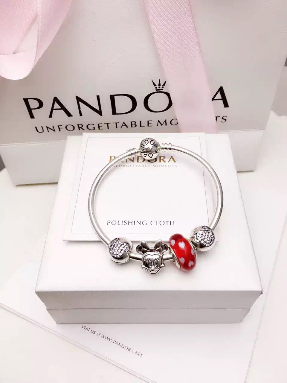9ec38fb8e 50% OFF!!! $139 Pandora Bangle Charm Bracelet Red. Hot Sale!!! SKU ...