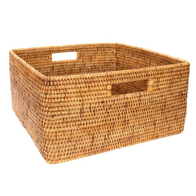 Boho Chic Artifacts Rattan Square Basket