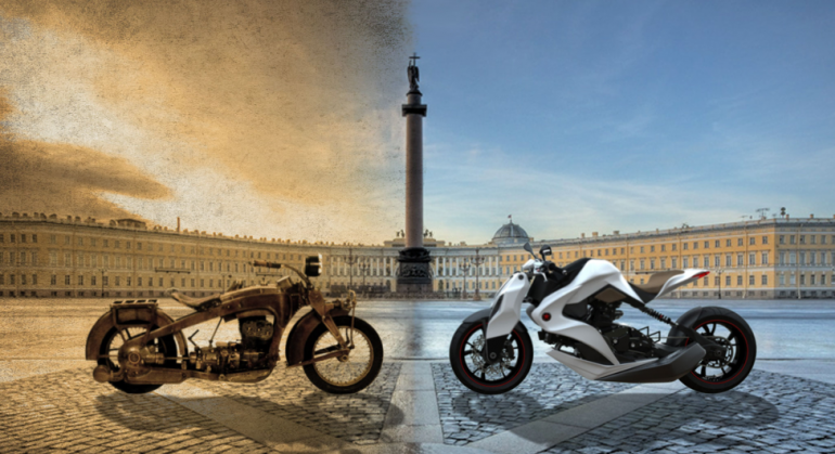 Russian Motorbike Concept Is Big On Safety Concept Motorcycles