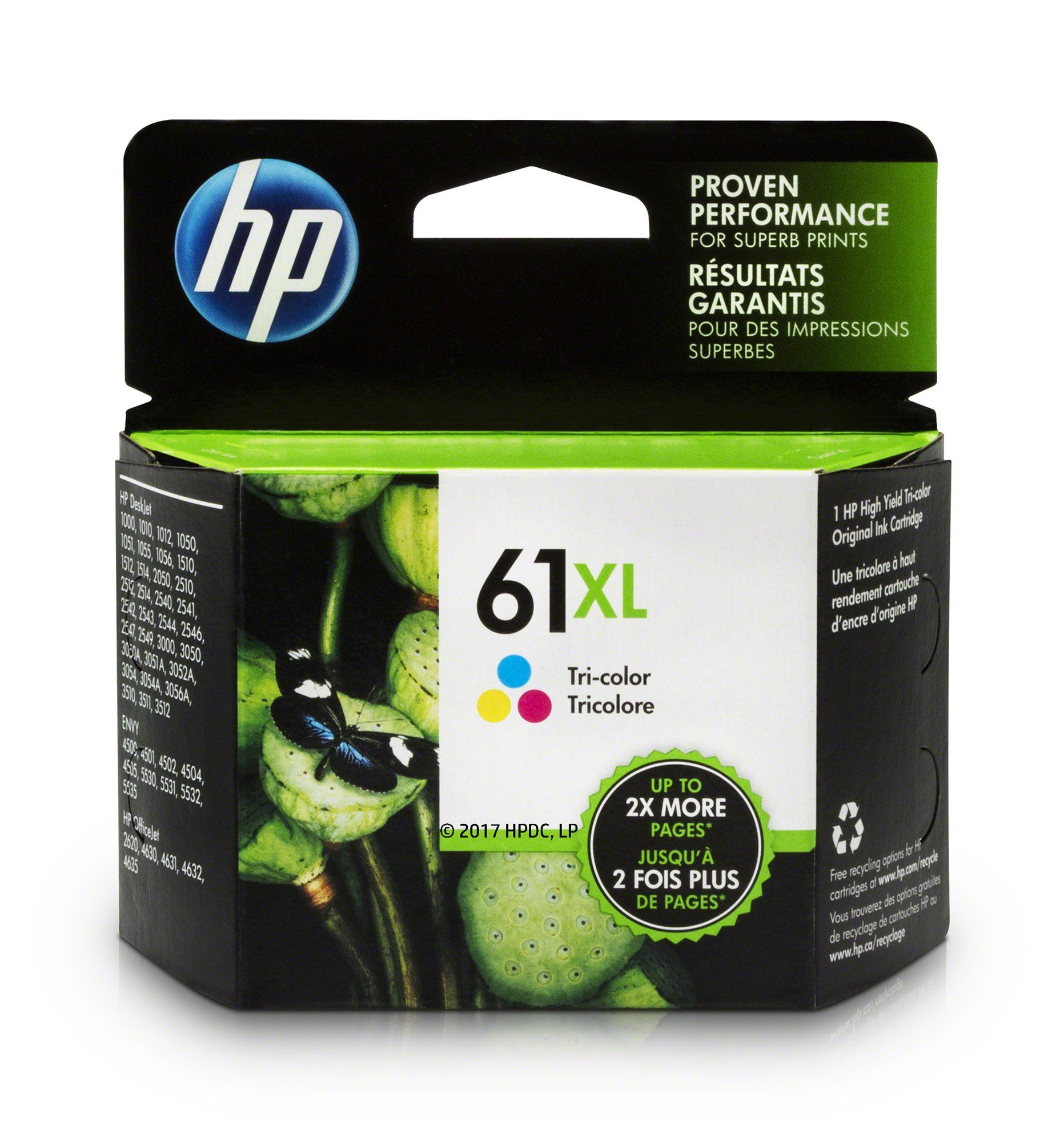 Hp 61xl Tricolor High Yield Original Ink Cartridge For Hp Envy