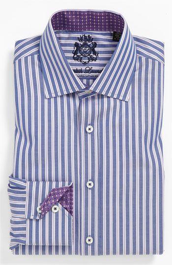 English Laundry Trim Fit Dress Shirt Camisa De Rayas Camisas Caballeros