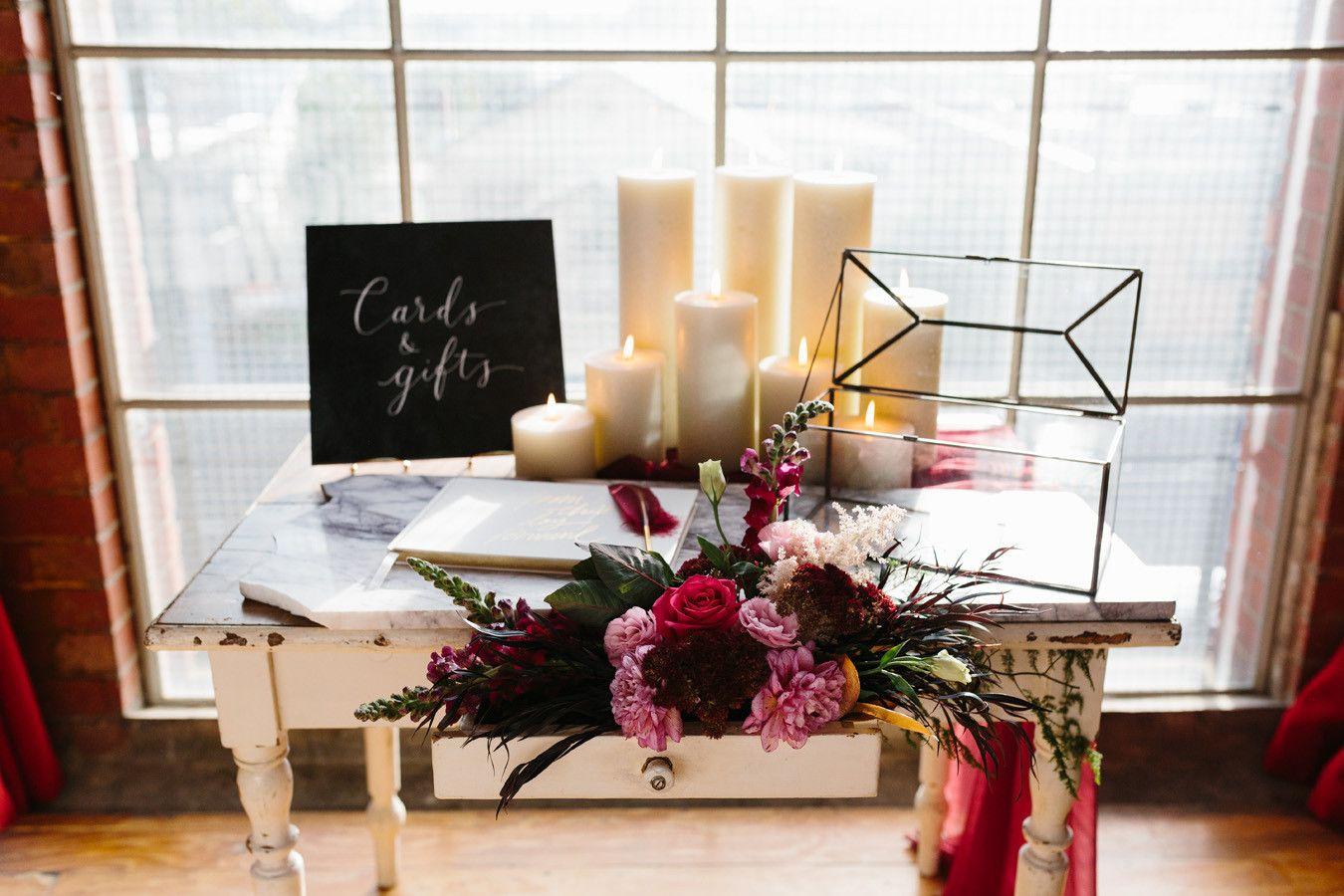 Industrial Distressed Wishing Well Table At The Substation Newport Melbourne Wedding Featuring