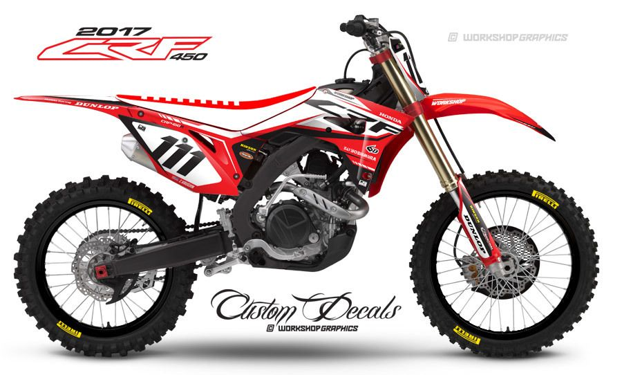 2017 crf450 pace red graphics