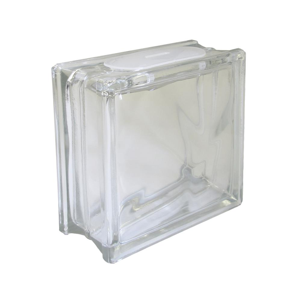 Redi2craft 7 5 In X 7 5 In X 3 125 In Wave Pattern Glass Block For Arts And Crafts 5 Pack Cb0808w The Home Depot Glass Blocks Glass Block Crafts Glass Crafts