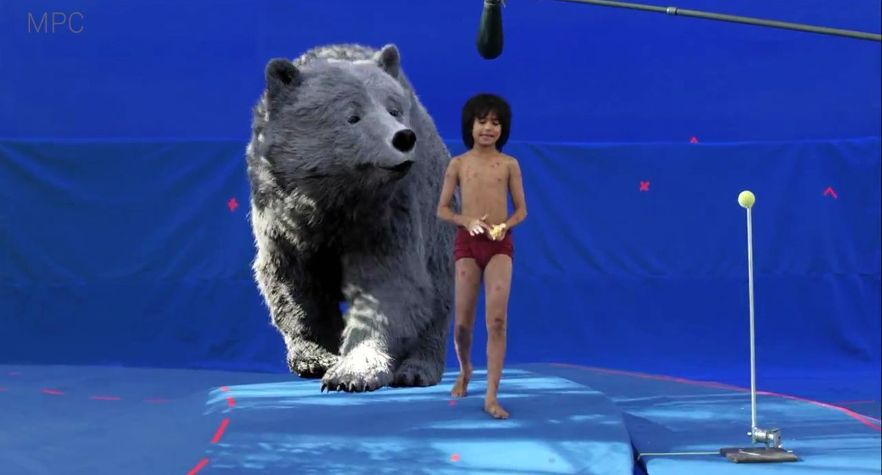 MPC working On Set for The Jungle Book, mpc, moving picture company, vfx, visual effects, breakdown, working on set, the jungle book, disney, jon favreau, baloo, bagheera, adam valdez, trailer, CGI, computer graphics, animation