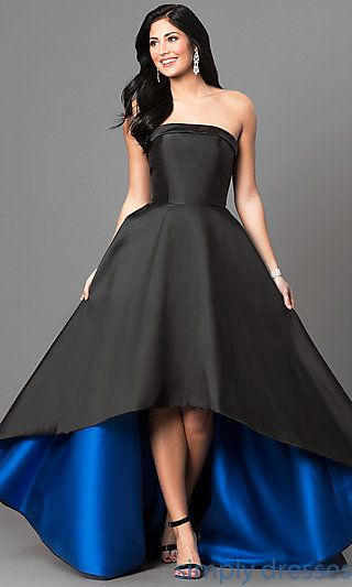 Black Strapless High Low Formal Gown In 2018 High Low Pinterest