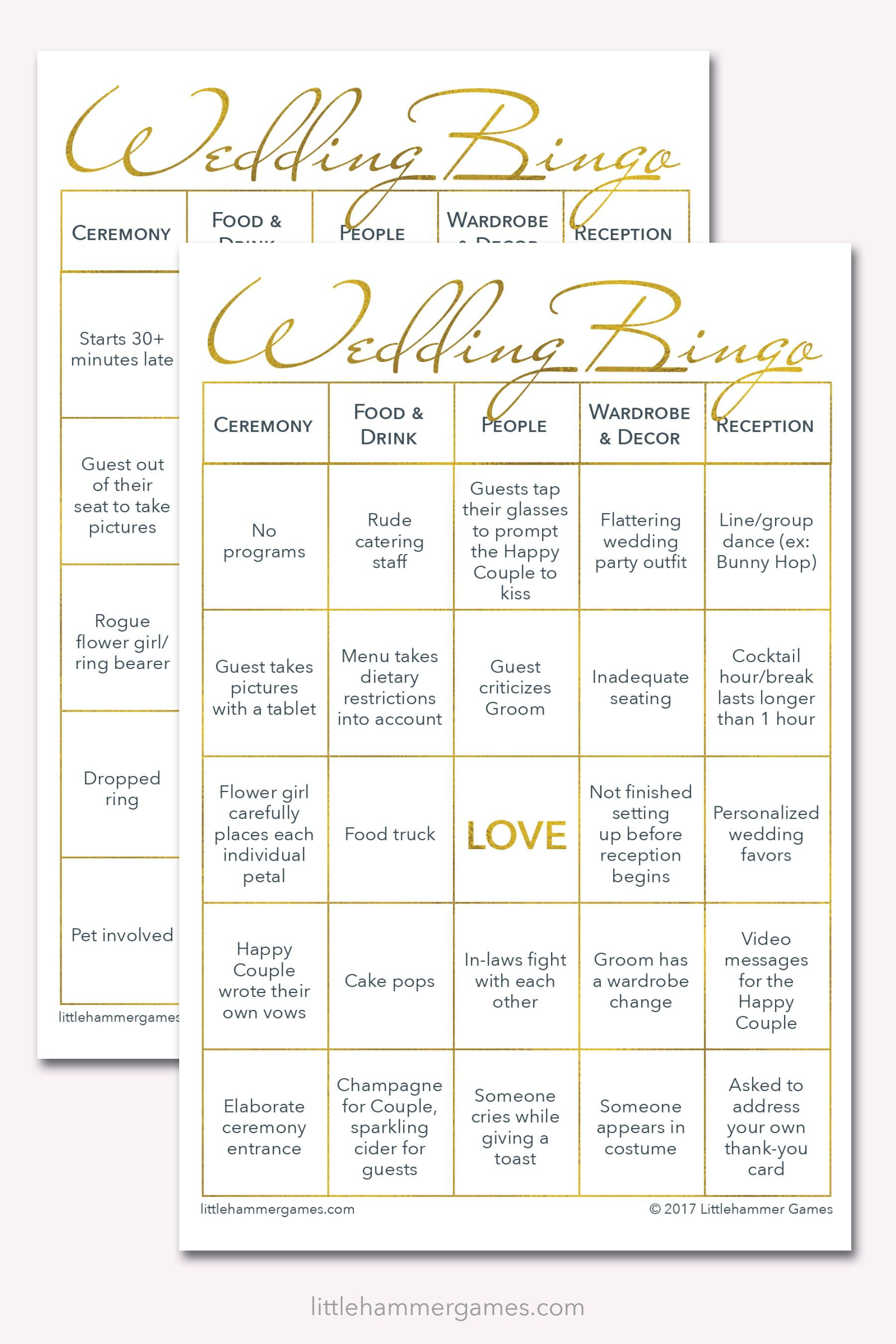 75 Printable Wedding Bingo Game Cards 2 Grooms Edition The Wedding